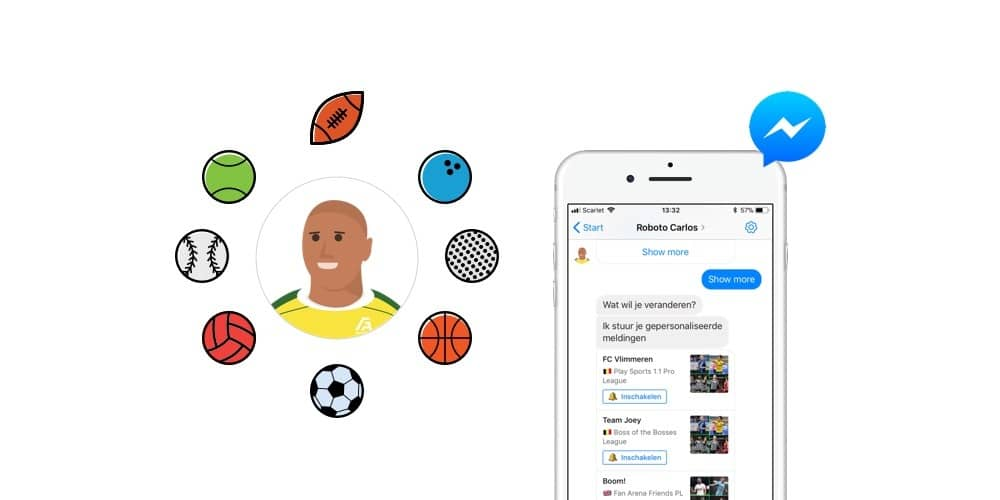 Use a chatbot to engage sports fans
