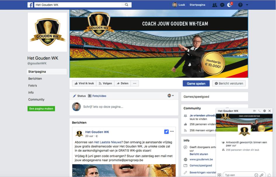 Gouden WK Facebook page