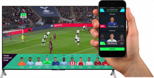 fan engagement during live sports with fantasy sports
