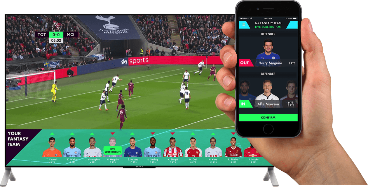 Fan Arena concept fantasy football live substitutions