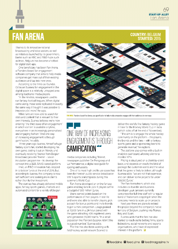 Fan Arena in Feed Magazine