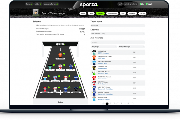 Sporza Wielermanager fantasy integration