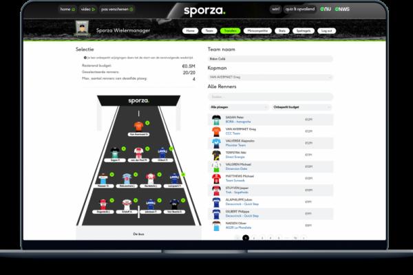 Sporza Wielermanager fantasy integration