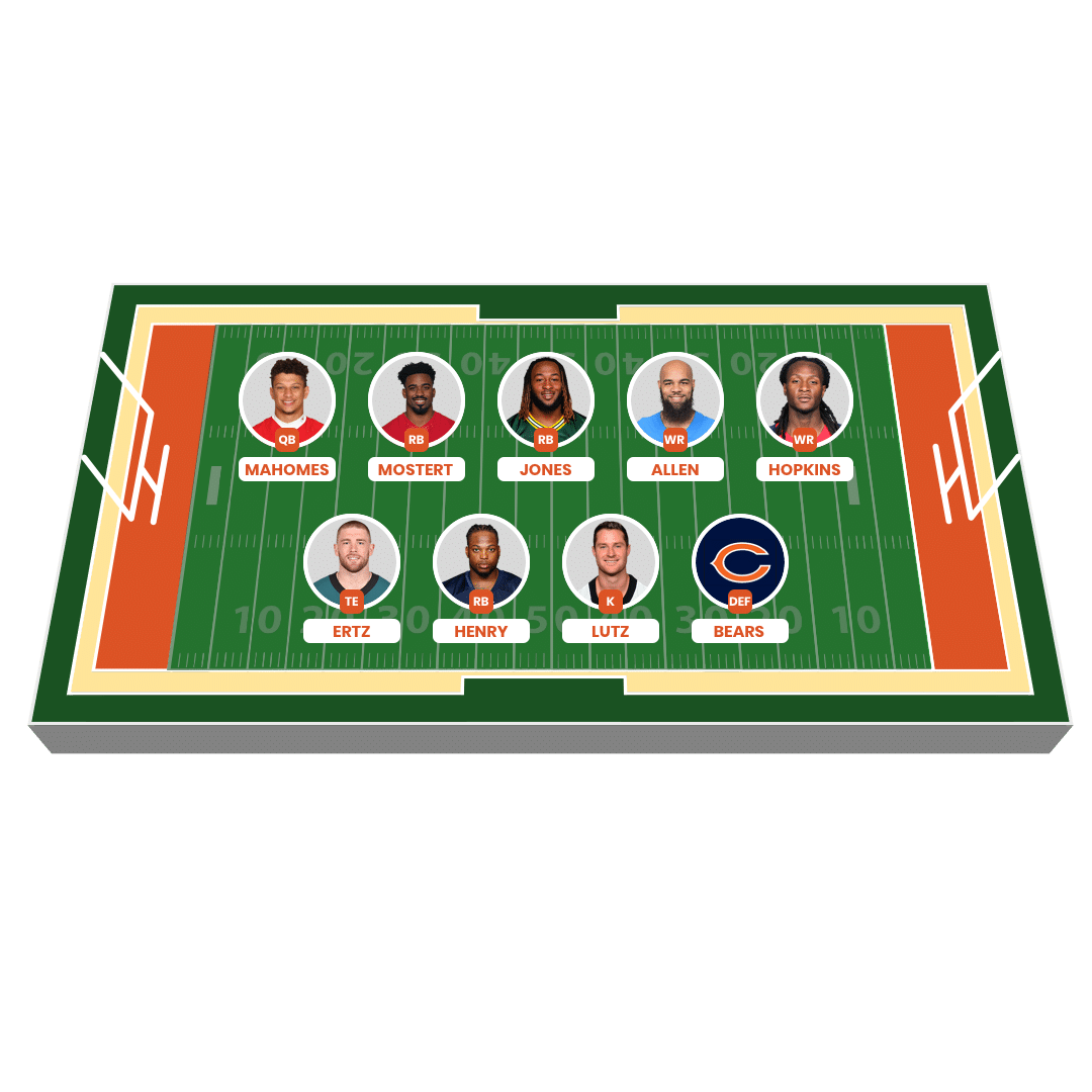 Fantasy American Football Lineup