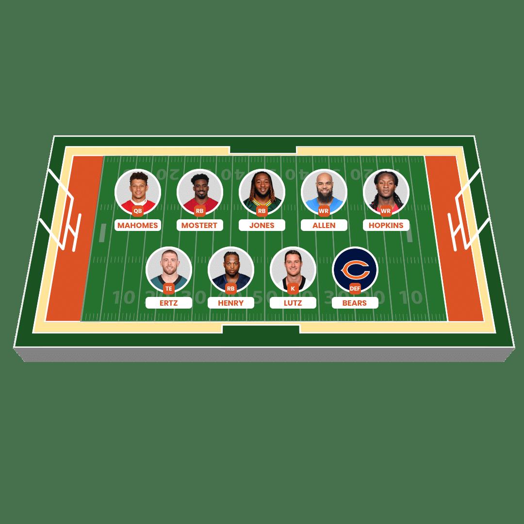 Fantasy American Football Lineup