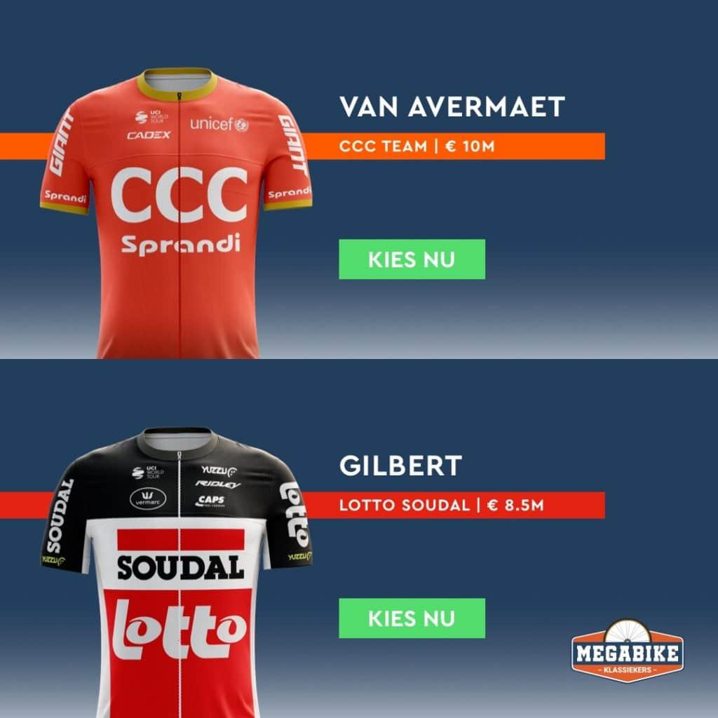 Megabike Klassiekers 2020 Facebook Ad Van Avermaet or Gilbert