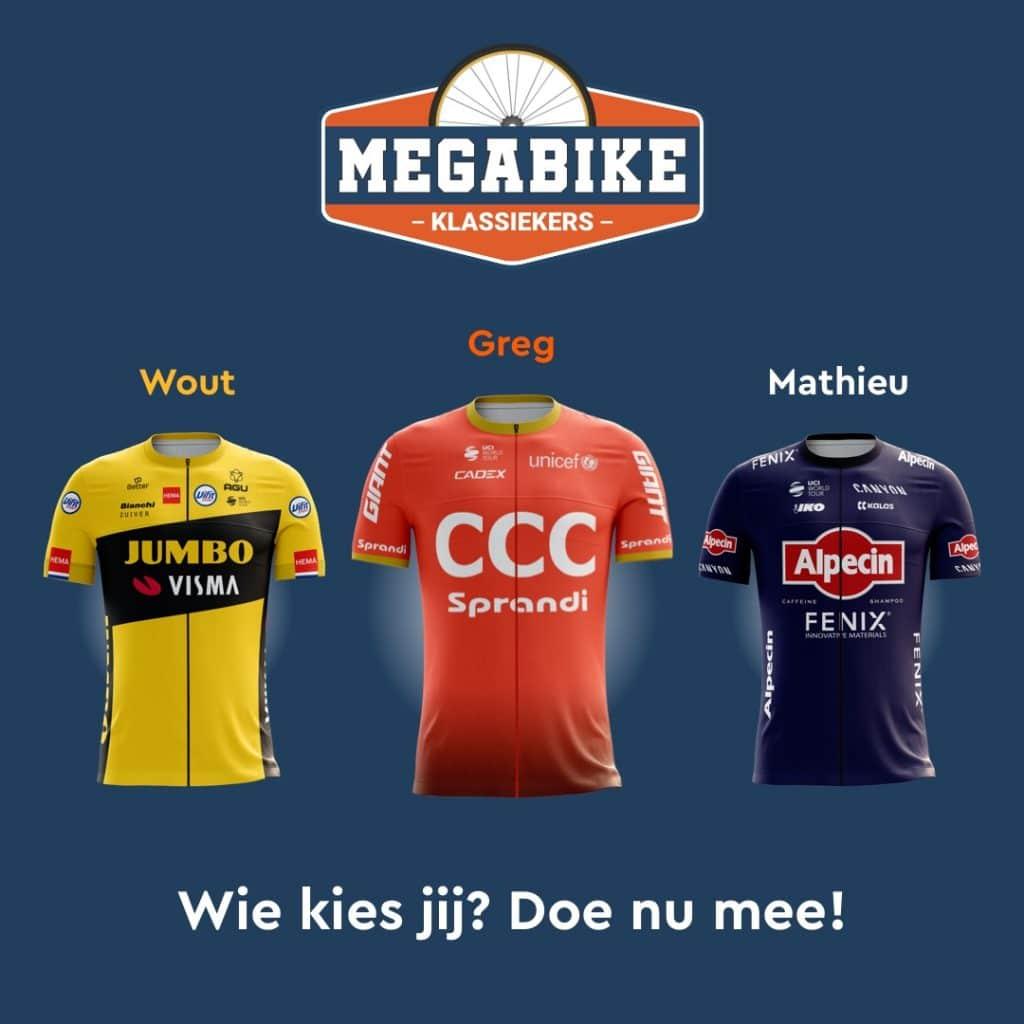 Megabike Klassiekers 2020 Facebook Ad Pick Wout, Greg or Mathieu