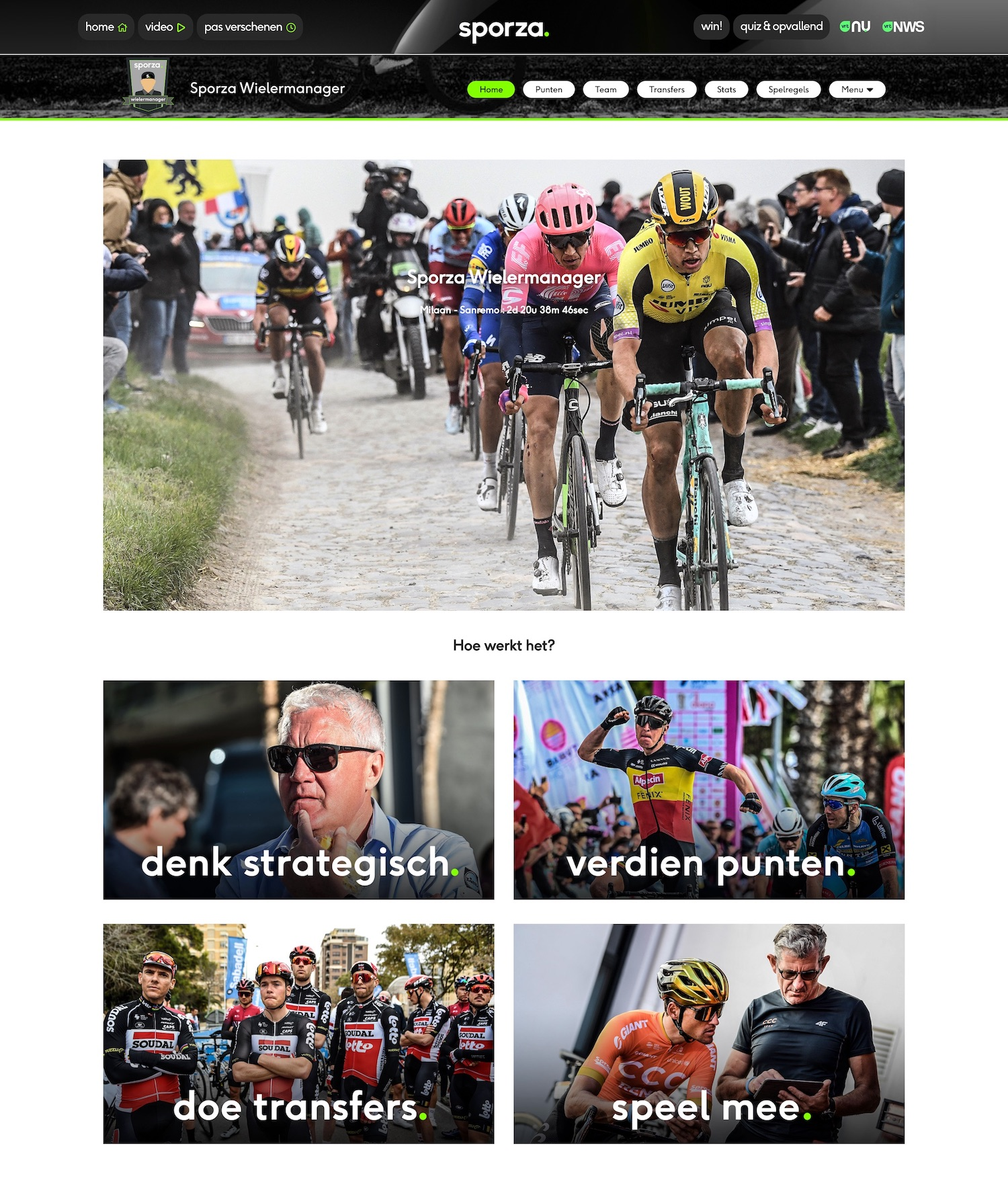 Sporza Wielermanager Homepage
